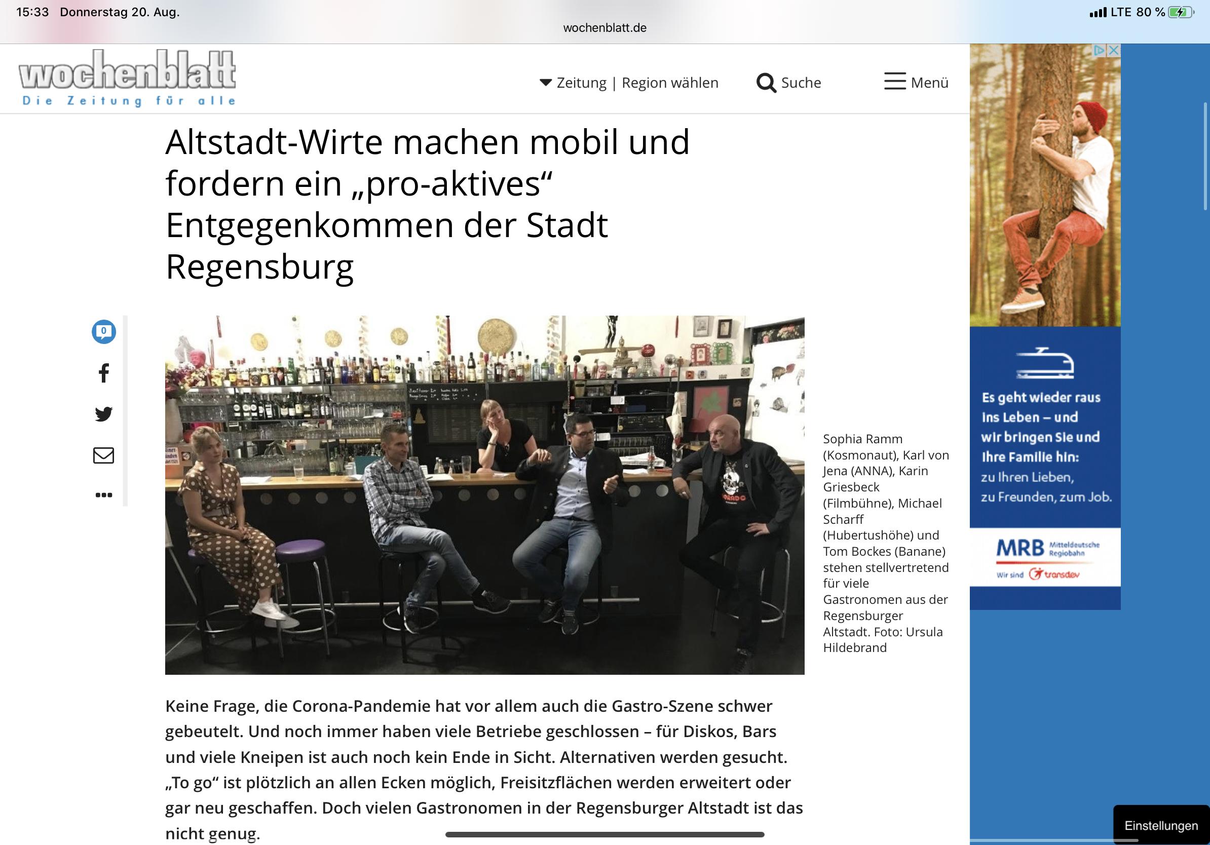 Wochenblatt Regensburg Anzeigen