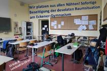 Sofortige Beseitigung der desolaten Raumsituation am Eckener-Gymnasium