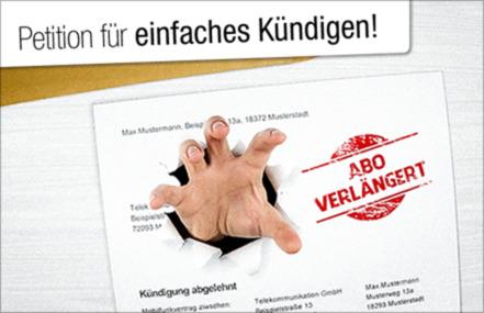 Frau Aigner Beenden Sie Den Abo Horror Online Petition