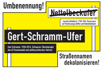 For the renaming of the Erfurt street Nettelbeck-Ufer into Gert-Schramm-Ufer