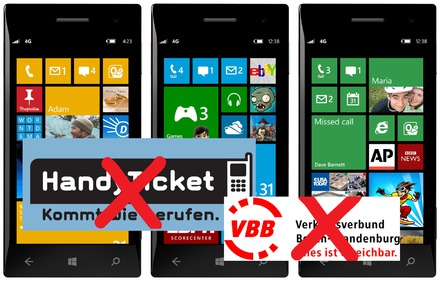Bild zur Petition mit dem Thema: Handyticketing im VBB für Windows Phone