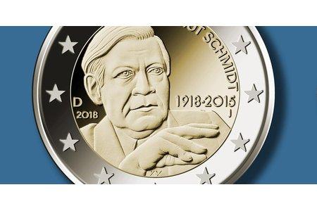 Helmut Schmidt Soll Mit Einer Zigarette Auf Der Neuen 2 Münze