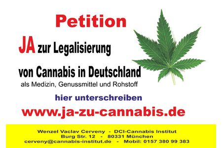 Bild zur Petition mit dem Thema: Yes to the legalization of Cannabis in Germany