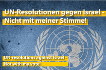 UN Resolutions Against Israel - Not With My Vote!