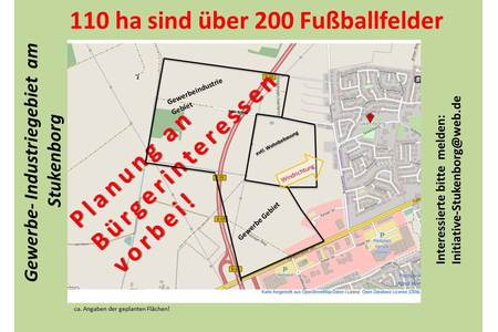 "Bild zur Petition mit dem Thema: Development of an industrial and commercial estate in the Vechta area ""Stukenborg"""