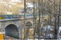 Save the Bockau Arch Bridge and Rechenhaus Restaurant near Aue (Saxony), Germany