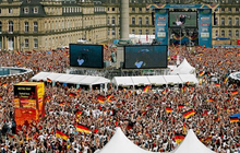 WM Finale Public Viewing in Stuttgart