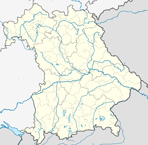 Map of Unterfranken with markings for the individual supporters