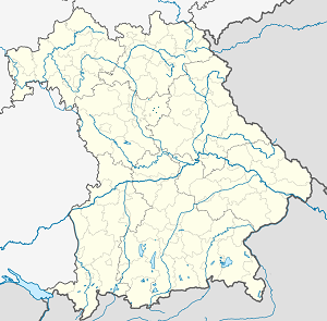 Map of Nürnberger Land with markings for the individual supporters