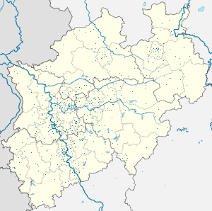 Map of North Rhine-Westphalia with markings for the individual supporters