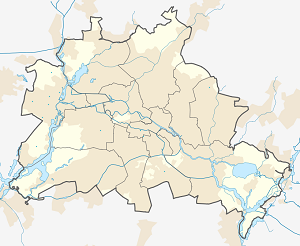 Map of Bezirk Spandau with markings for the individual supporters