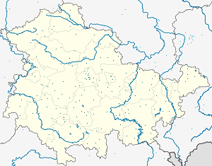 Map of Thüringen with markings for the individual supporters