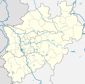 Map of Düsseldorf with markings for the individual supporters