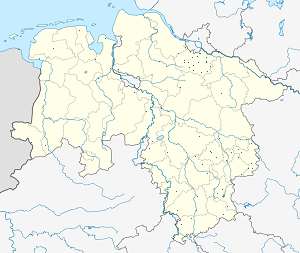 Map of Lower Saxony with markings for the individual supporters