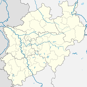 Map of Gelsenkirchen with markings for the individual supporters