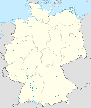 Map of Land Baden-Württemberg with markings for the individual supporters