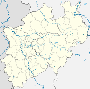 Map of Nordrhein-Westfalen with markings for the individual supporters