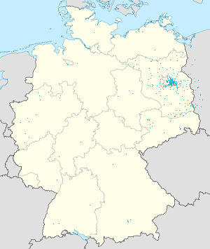 Map of Berlin & Brandenburg with markings for the individual supporters