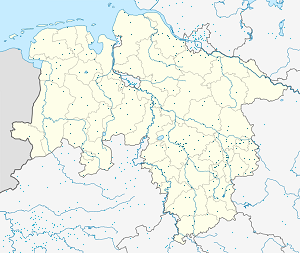 Map of Niedersachsen with markings for the individual supporters