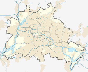 Map of Bezirk Pankow with markings for the individual supporters