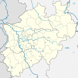Map of Emmerich am Rhein with markings for the individual supporters
