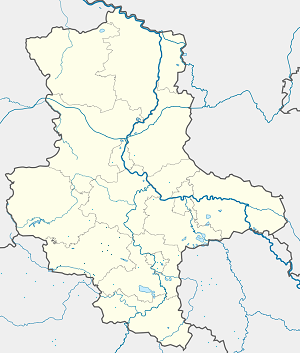 Map of Landkreis Mansfeld-Südharz with markings for the individual supporters