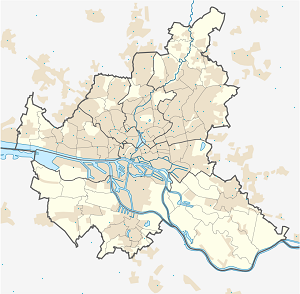 Map of Hamburg-Mitte with markings for the individual supporters