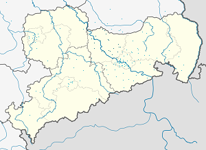 Map of Landkreis Meißen with markings for the individual supporters