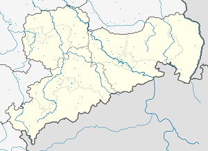 Map of Riesa with markings for the individual supporters