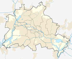 Map of Bezirk Steglitz-Zehlendorf with markings for the individual supporters