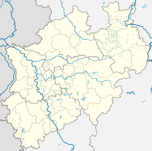 Map of Regierungsbezirk Detmold with markings for the individual supporters