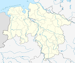 Map of Leer, East Frisia, Germany with markings for the individual supporters