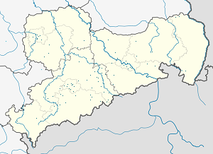 Map of Saxony with markings for the individual supporters