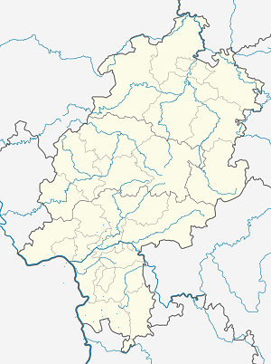 Map of Bensheim with markings for the individual supporters