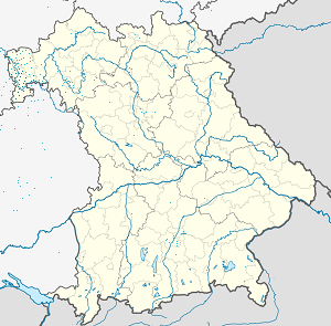 Map of Landkreis Miltenberg with markings for the individual supporters