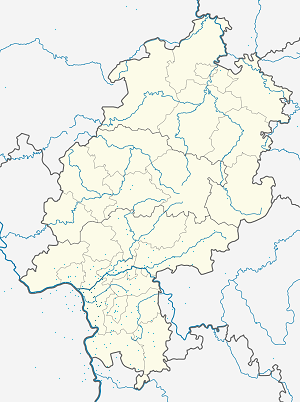 Map of Kreis Groß-Gerau with markings for the individual supporters