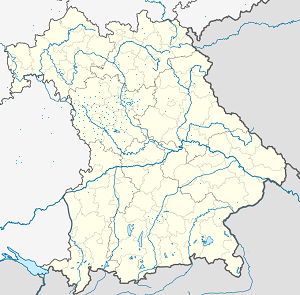 Map of Ansbach with markings for the individual supporters