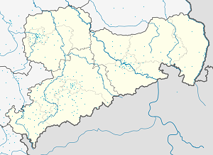 Map of Plauen with markings for the individual supporters
