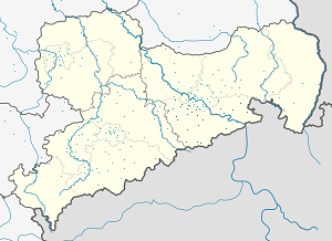 Map of Sächsische Schweiz-Osterzgebirge with markings for the individual supporters