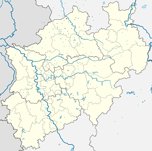 Map of Kreis Steinfurt with markings for the individual supporters
