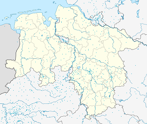 Map of Bückeburg with markings for the individual supporters