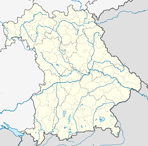 Map of Bavaria with markings for the individual supporters