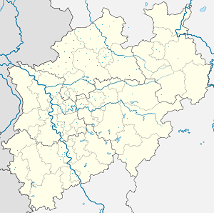 Map of Kreis Borken with markings for the individual supporters