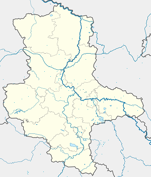 Map of Zerbst with markings for the individual supporters