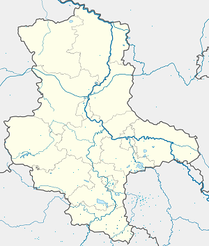 Map of Burgenlandkreis with markings for the individual supporters