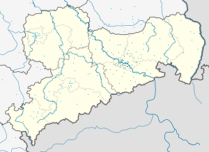 Map of Dresden with markings for the individual supporters