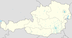Map of Styria with markings for the individual supporters
