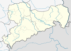 Map of Radebeul with markings for the individual supporters