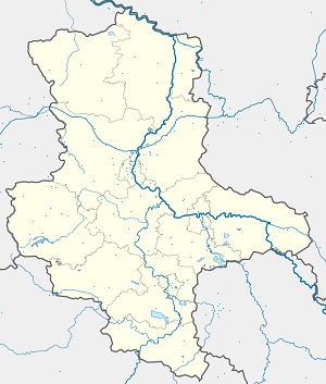 Map of Biederitz with markings for the individual supporters
