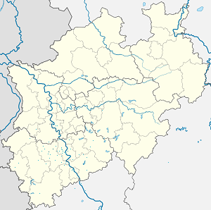 Map of Bergheim with markings for the individual supporters